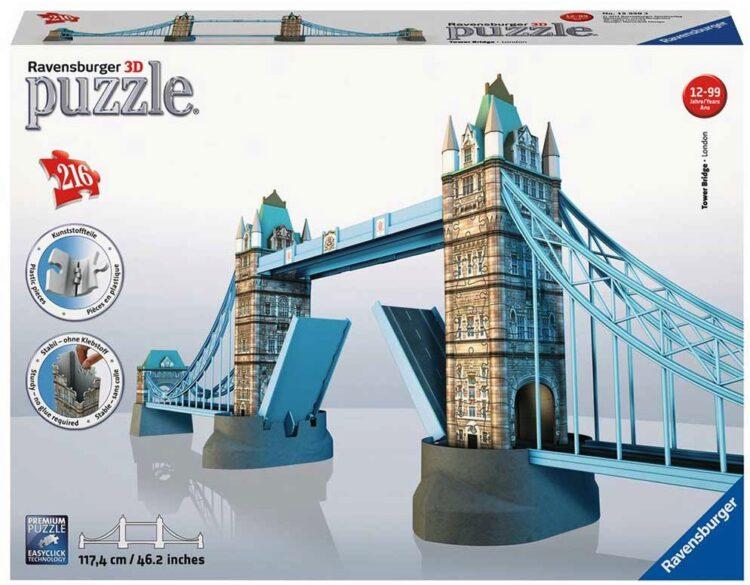 3D PUZZLE 216PCS TOWER BRIDGE RAVENSBURGER