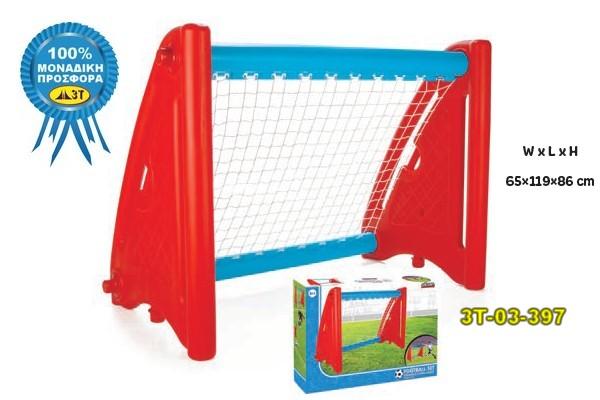 Εστία Ποδοσφαίρου Κωδικός προϊόντος: 3T-03-397 Κατηγορίες: ΠΑΙΧΝΙΔΙΑ, ΚΑΤΑΛΟΓΟΣ 3Τ-P1, Παιχνίδια Δραστηριοτήτων Ετικέτες: Εστία Ποδοσφαίρου, Εστία Ποδοσφαίρου με δίχτυα