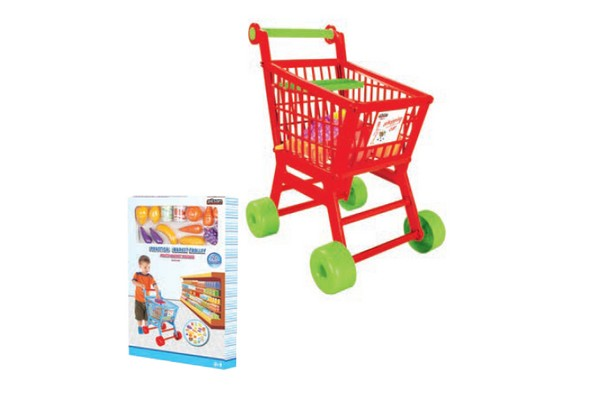 Καρότσι Αγορών Σούπερ Μάρκετ με ψώνια