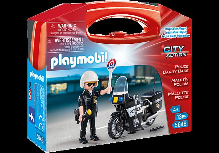 Βαλιτσάκι Αστυνόμος με μοτοσικλέτα PLAYMOBIL