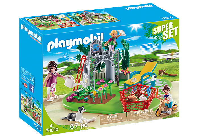 SuperSet Οικογενειακός Κήπος PLAYMOBIL