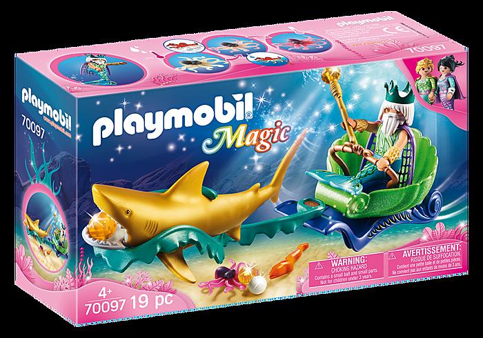 Βασιλιάς της Θάλασσας με άμαξα καρχαρία PLAYMOBIL
