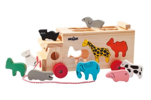 ANIMAL TRUCK 10 PIECES WOODY TOYS