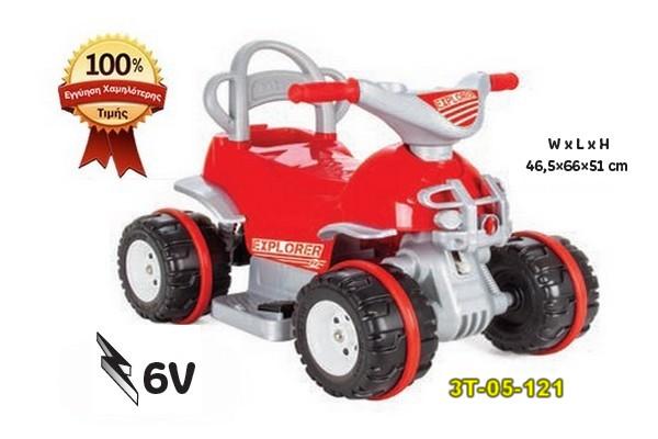Αυτοκινούμενη παιδική γουρούνα «EXPLORER» 6V